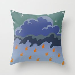 Stars and Fish Throw Pillow