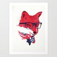 american Art Prints featuring American Fox by Robert Farkas