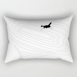 Cat jump in the tornado Rectangular Pillow