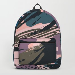 Abstract lavender pastel color creative brushstrokes Backpack