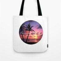 forever young Tote Bags featuring FOREVER YOUNG by Shelby McCann