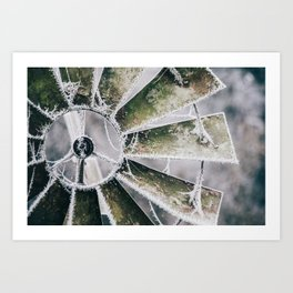 Windmill in Frost Art Print