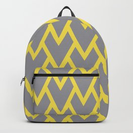 Abstract Heart - Arrow Head Shape Pattern 17 V2 2021 Color Of The Year Illuminating / Ultimate Gray Backpack