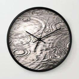 Just a Rainy Day Wall Clock