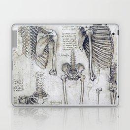 Leonardo Da Vinci human body sketches Laptop & iPad Skin