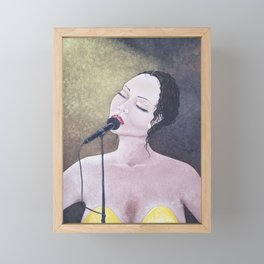 The Moment, Singing Woman Painting, by Faye Framed Mini Art Print