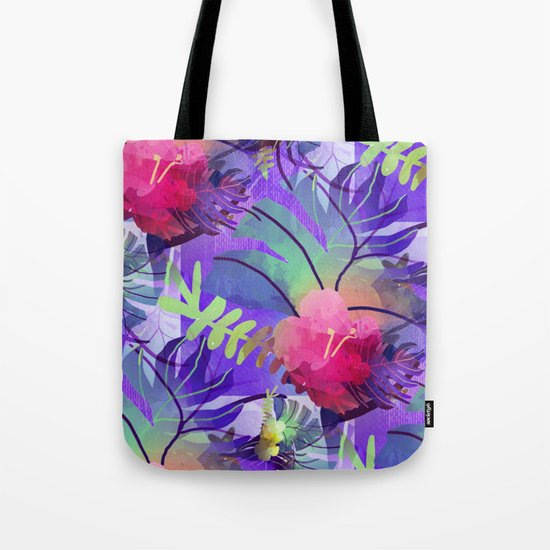 Purple Tropics Tote Bag