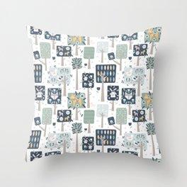 Swedish Woodland Throw Pillow