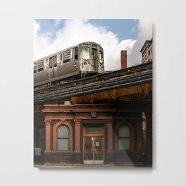 Elevated Train Metal Print