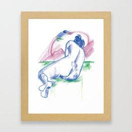 The sunbather Framed Art Print
