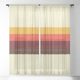 retro color palette 60s Sheer Curtain