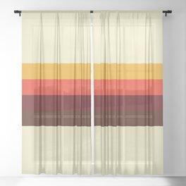 retro color palette 60s Sheer Curtain