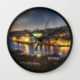 Panoramic Porto Potugal Wall Clock