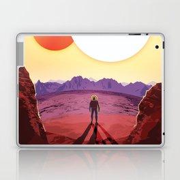 NASA Retro Space Travel Poster #8 Kepler 16b Laptop & iPad Skin