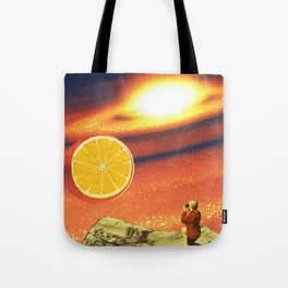 Orange planet Tote Bag