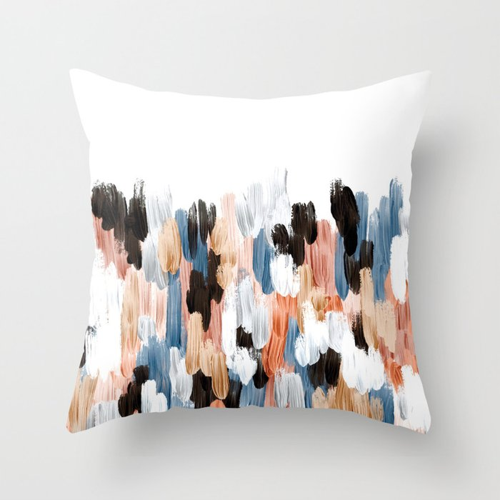 Copper II Throw Pillow