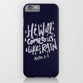 Hosea 6: 3 x Navy iPhone Case
