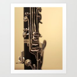 Clarinet Keys Art Print