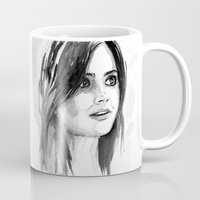 jenna kutcher Mugs featuring Clara by Danny Haas