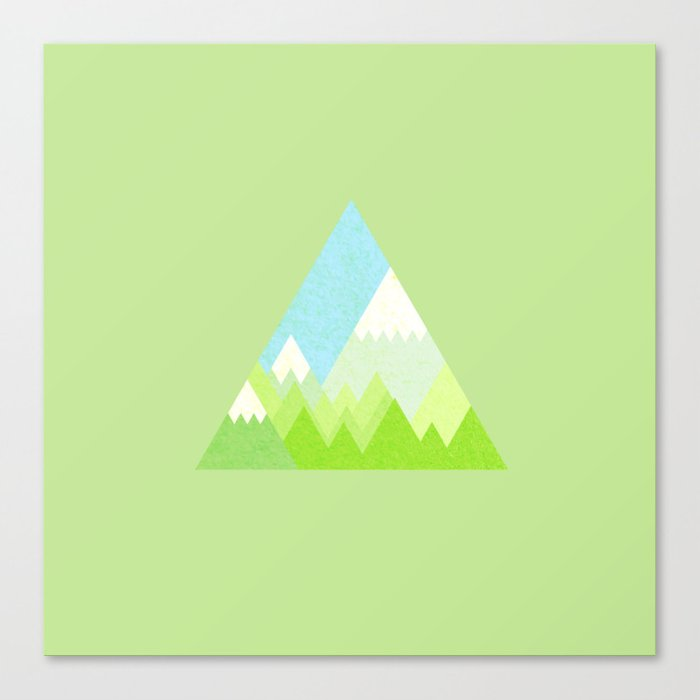 national park geometric pattern Canvas Print