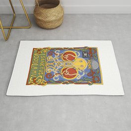 Flying Spaghetti Monster: Sanctus Noodlamus Rug