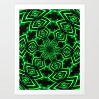 rave Art Prints featuring Rave Explosive by Julie Maxwell