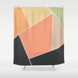 Black and orange Shower Curtain