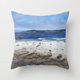 Carmel Beach South #1 Throw Pillow