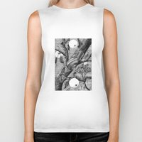 snail Biker Tanks featuring Snail by ahatom