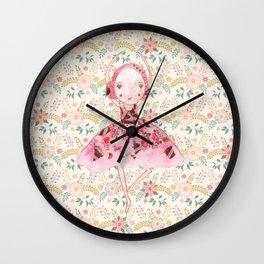 Isabella Bellarina Dancing in Flowers Wall Clock