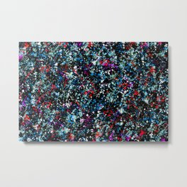 paint drop design - abstract spray paint drops 4 Metal Print