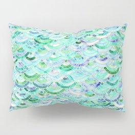 Marble Mosaic in Mint Quartz and Jade Pillow Sham