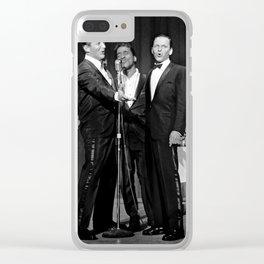 Frank Sinatra, Dean Martin, Sammy Davis Jr. Clear iPhone Case