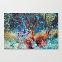 splatter Canvas Prints featuring Splatter by Stephen Linhart
