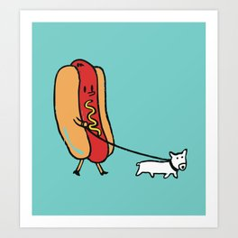 Double Dog Art Print