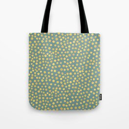 DOT PATTERN - blue and gold Tote Bag