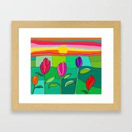 Tullip summer Framed Art Print