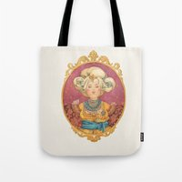 queen Tote Bags featuring Queen by Kasheva