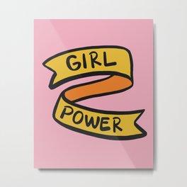 Girl Power - Pink Metal Print
