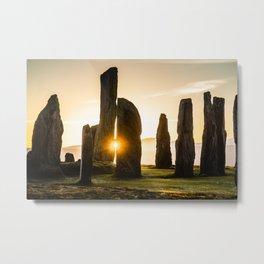 Callanish Winter Sunset Metal Print