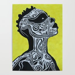Tribal Body - Acrylics Painting Poster