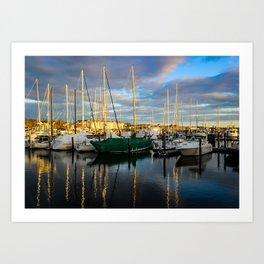 Boats of Newport, RI Art Print