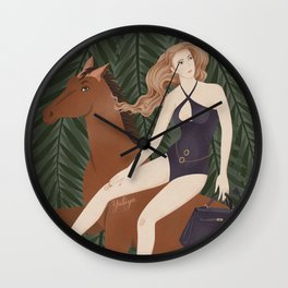 Lady on a horse Wall Clock