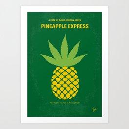 No264 My PINEAPPLE EXPRESS minimal movie poster Art Print