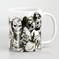 zombies Mugs featuring zombies by The Doom Cave