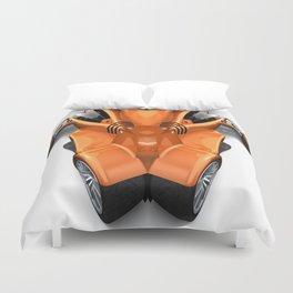 Orange Car 0945 Duvet Cover