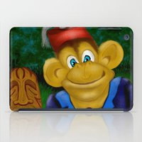 fez iPad Cases featuring Chimp in a Fez by Gene S Morgan