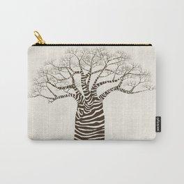 Zebra Tree Carry-All Pouch