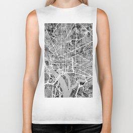 Washington DC City Street Map Biker Tank