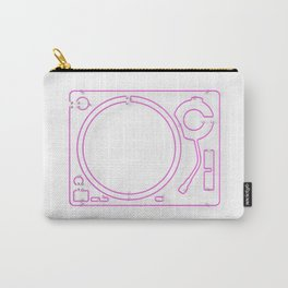 Neon Turntable 2 - 3D Art Carry-All Pouch